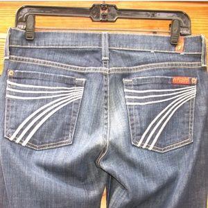7 for all mankind White Stitch Dojo Jeans 27 X 30